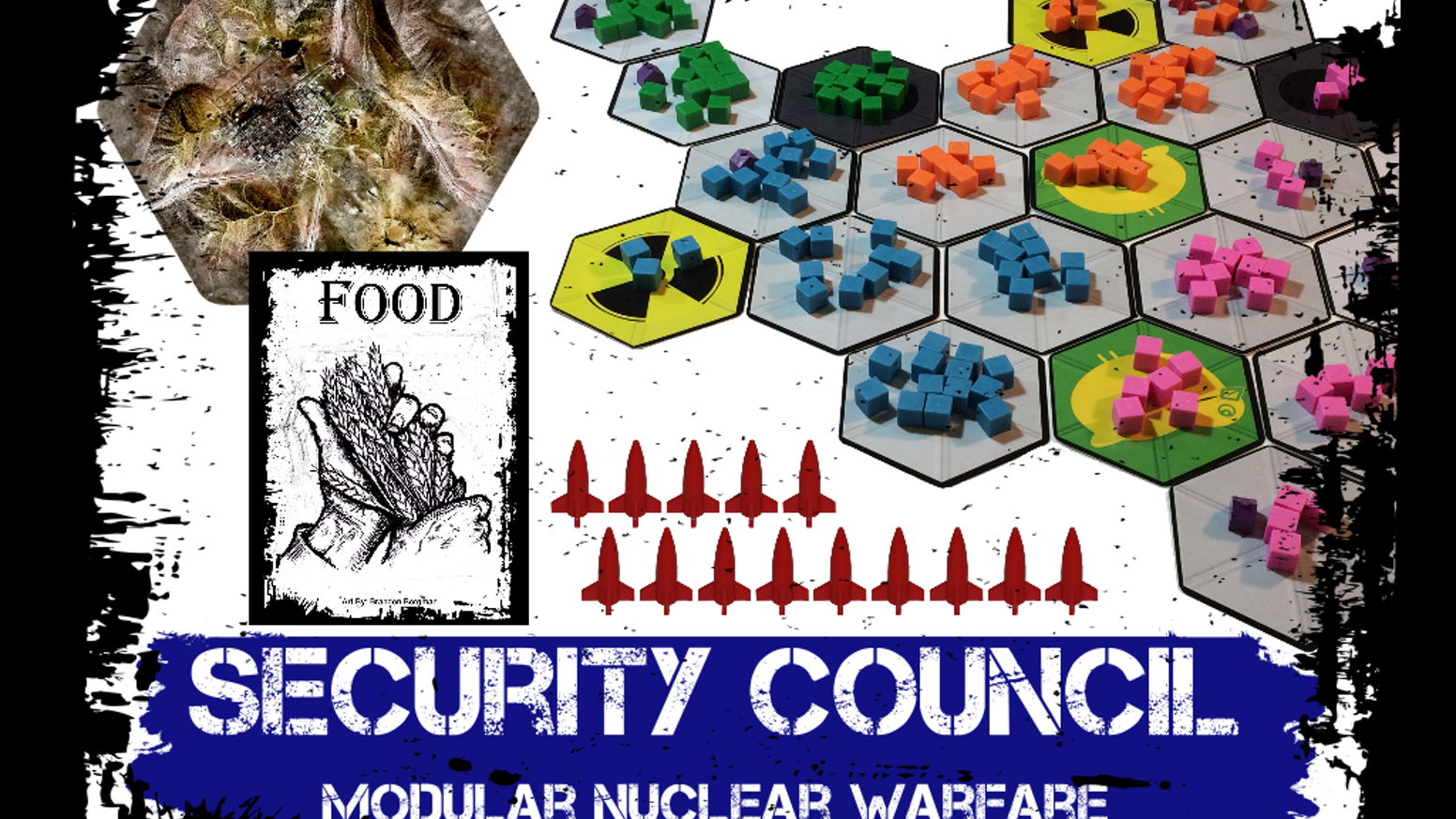 Modular zone-control troop board game with nukes & resources. Incredibly versatile, engaging, and fun! You'll love nuking your friends!