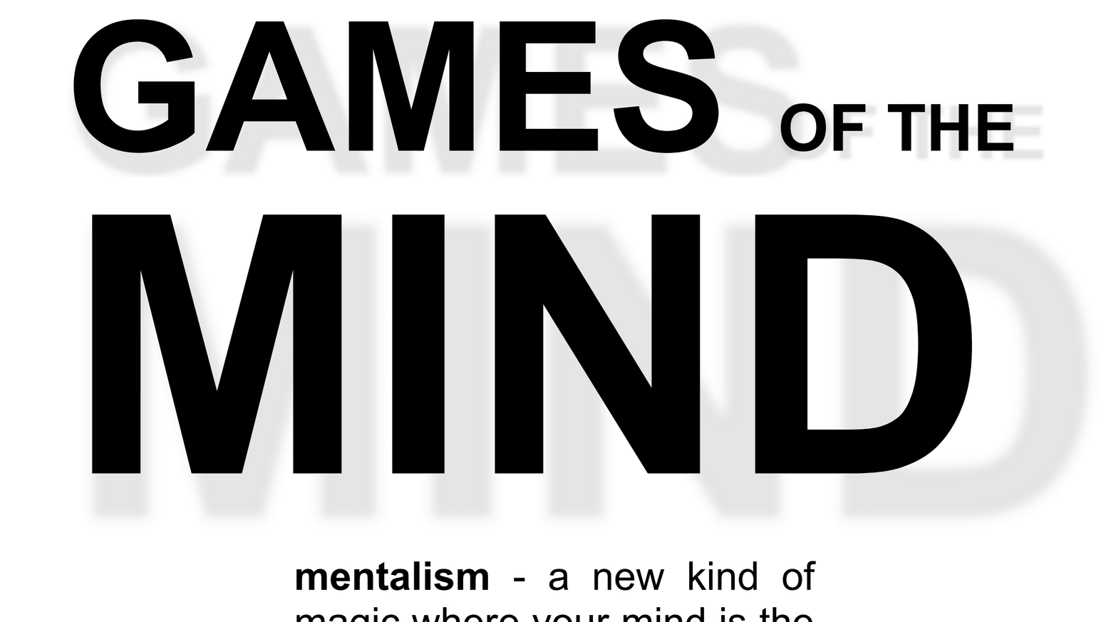Games of the Mind by Frank Bright — Kickstarter