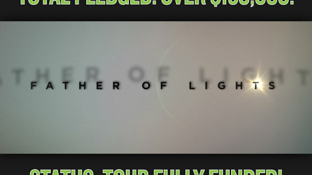 Father of Lights project video thumbnail