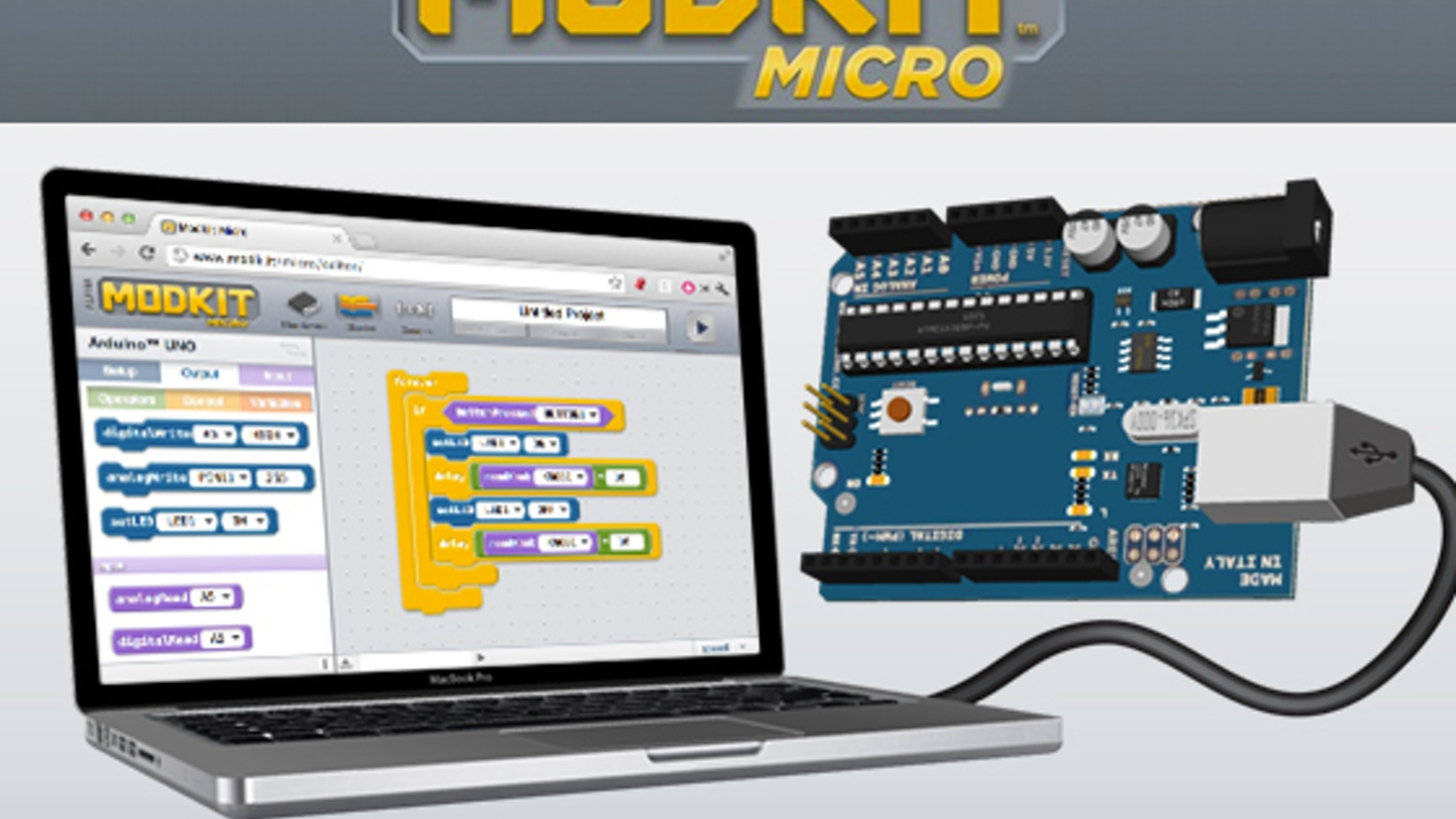 Modkit Micro: The Easiest Way to Program Microcontrollers by Modkit