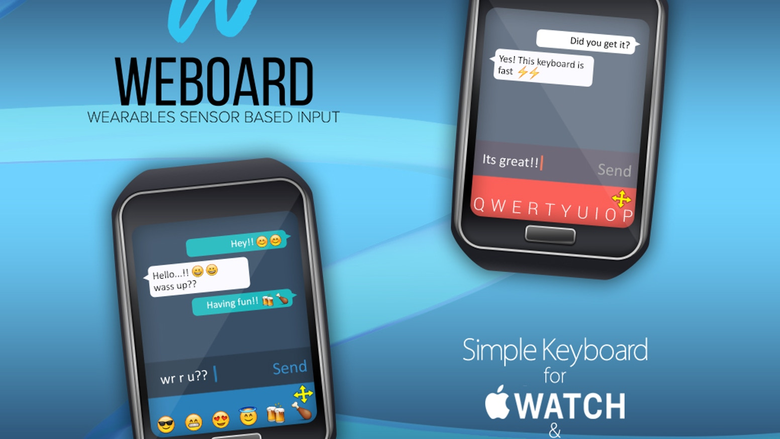 Weboard Simple Keyboard For Apple Watch Android Wear By Erik