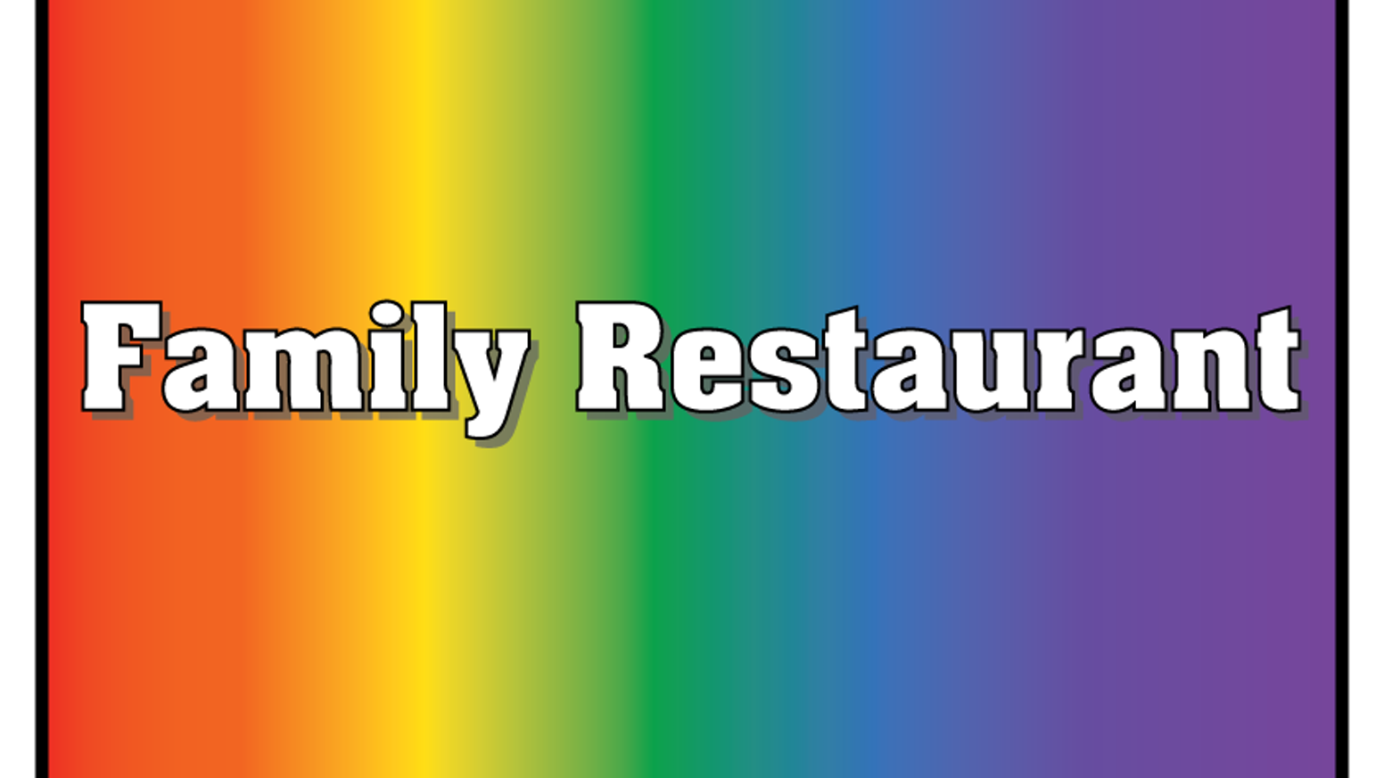 """Family Restaurant"" is a short children's film celebrating children of gay and lesbian parents. It's a mix of live action and puppetry."