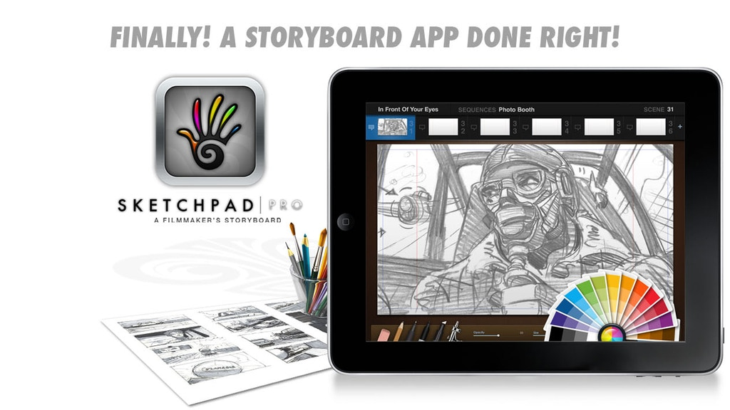 Project image for SketchPad Pro: A Filmmaker's Storyboard for the iPad