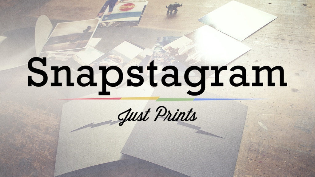 Snapstagram - Just Prints project video thumbnail