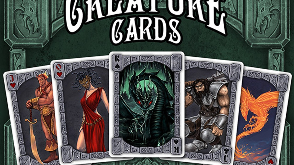 Creature Cards - monstrous playing cards for games or rpgs project video thumbnail