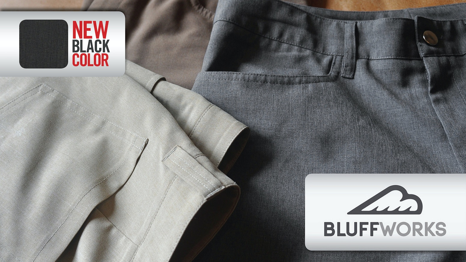 New line of men's pants wearable for days without washing or ironing. Suitable for the office or adventure, they fuel an active life.
