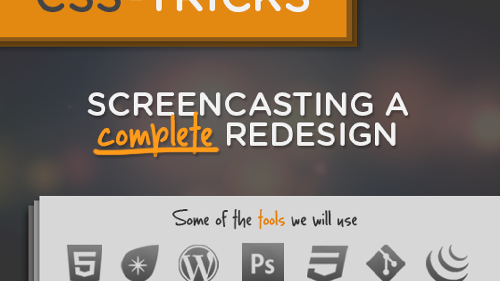 Screencasting a Complete Redesign project video thumbnail