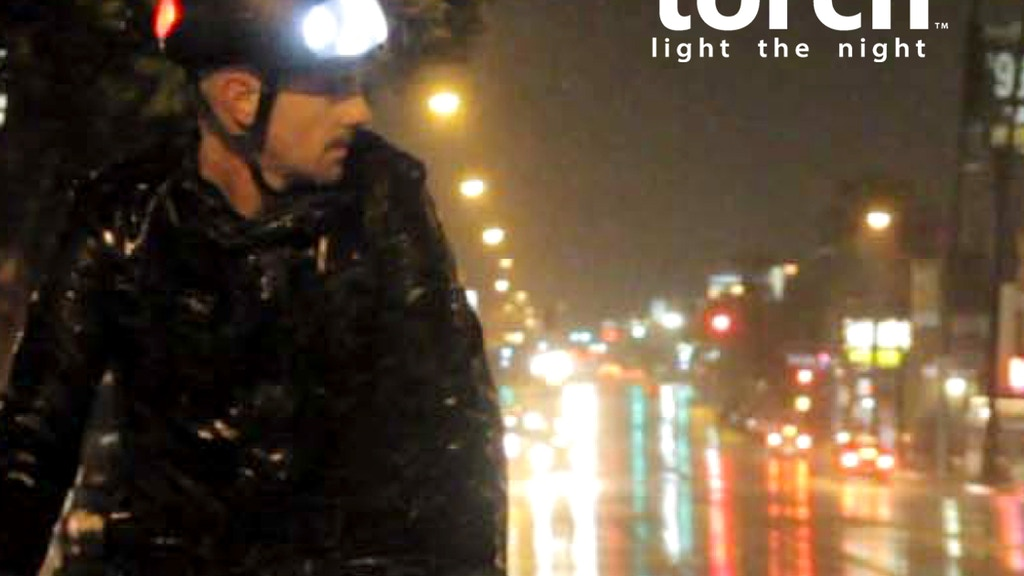 Torch-bicycle helmet with integrated lights project video thumbnail