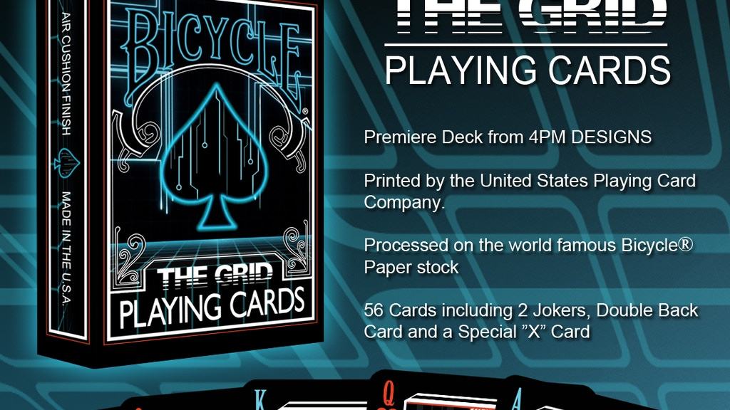 THE GRID, A Bicycle® Playing Card Deck by 4PM DESIGNS project video thumbnail