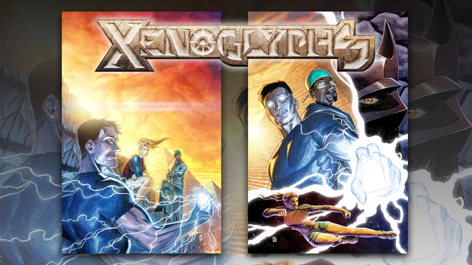 Xenoglyphs is a comic book adventure series about five heroes searching out nine elemental stones with the power to change the world.