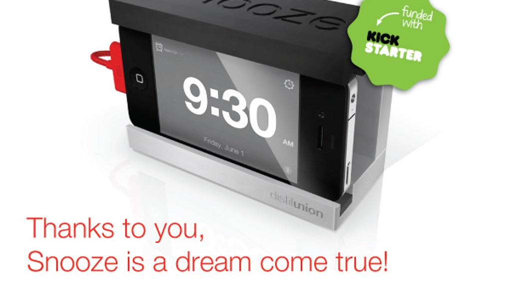 Snooze - The iPhone Alarm Dock with a Big Snooze Bar project video thumbnail
