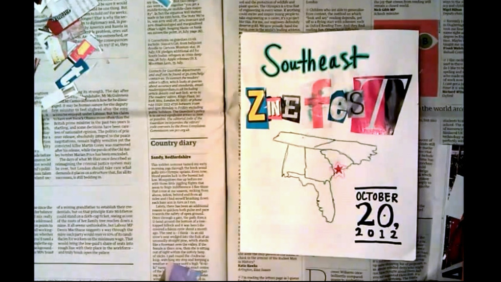 Southeast Zine Fest 2012 project video thumbnail