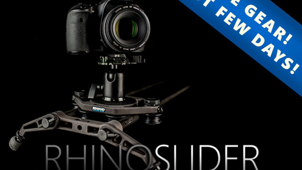 Rhino Slider for DSLR Cameras project video thumbnail