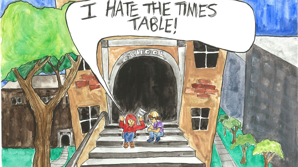 I HATE THE TIMES TABLE!! A kid's book about math. by Quinn ... I Hate Math Book