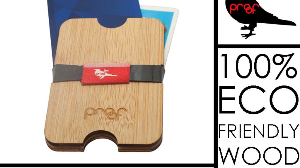 Wood Wallet / Money clip: 100% eco-friendly By PROOF project video thumbnail