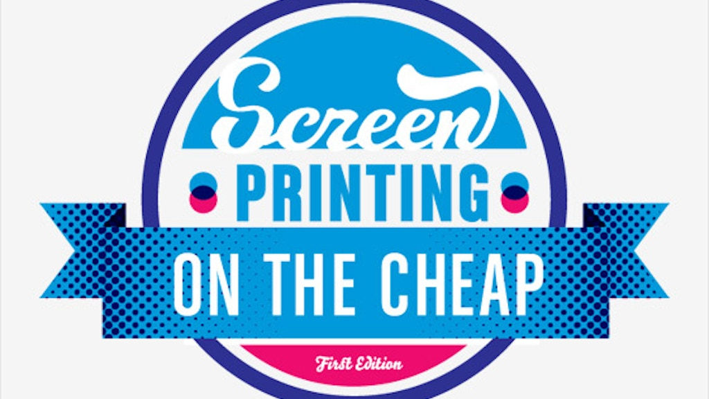 Screen Printing: On the Cheap Book project video thumbnail