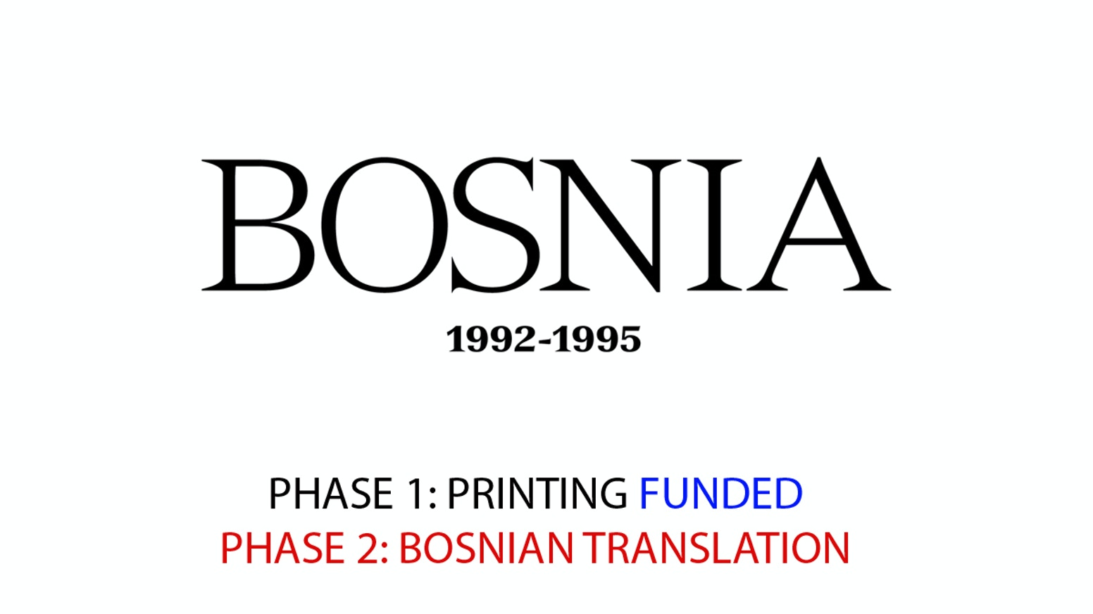 The Bosnia Book Project 1992