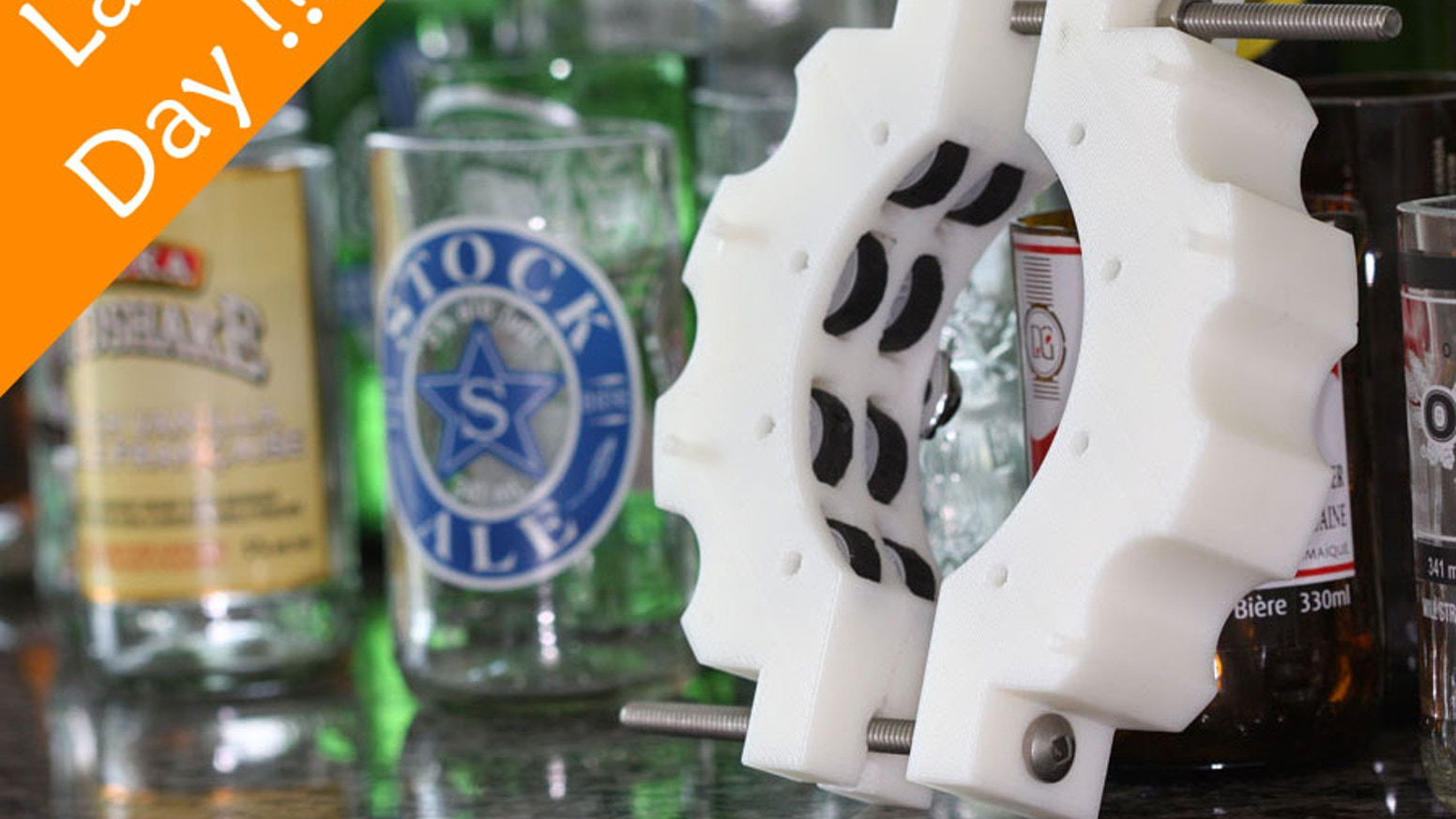 Transform your favorite bottles into custom glassware with the Kinkajou Bottle Cutter.  Appealing to the environmentally conscious, brand loving, unique trendsetters everywhere.