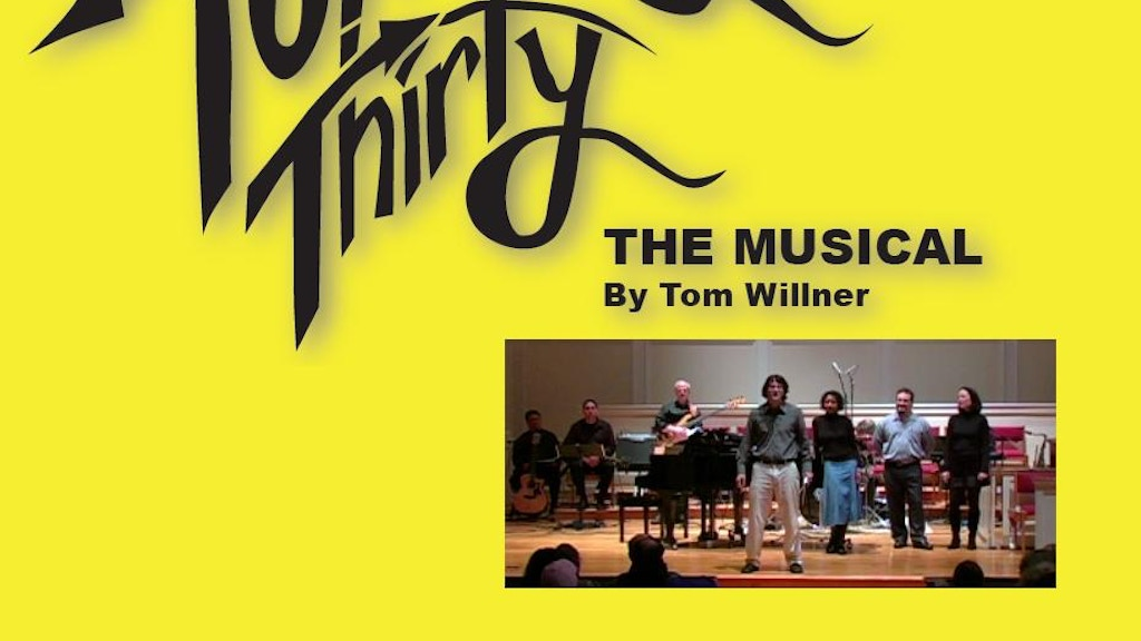 Turning Thirty - A musical about surviving cancer by Tom ...