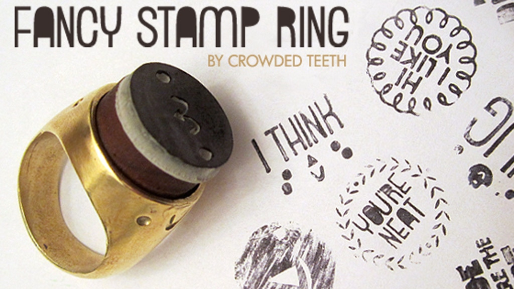 Crowded Teeth Fancy Stamp Ring project video thumbnail