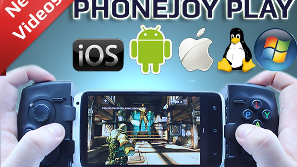 PhoneJoy Play: Turn your phone into a console! project video thumbnail