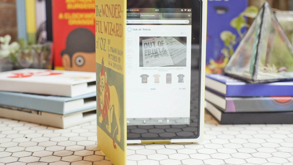 Out of Print eBook Jackets for iPad, Kindle Fire and Nexus 7 project video thumbnail