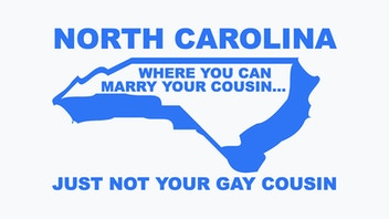 You can't marry your gay cousin in North Carolina shirt!