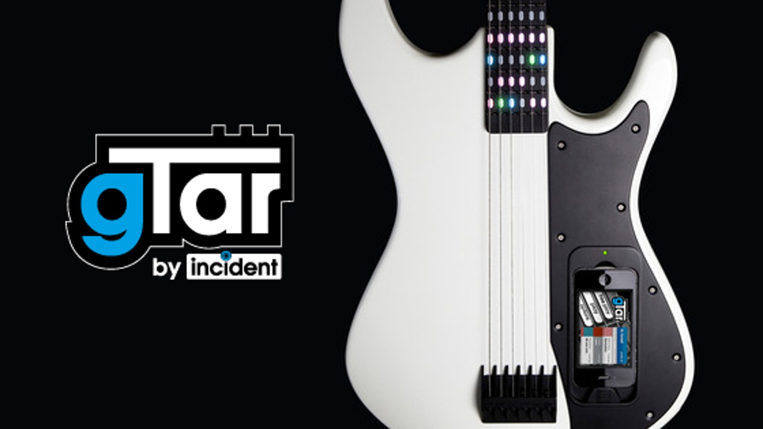 The gTar is a fully digital guitar that enables anybody to play music quickly and easily with the help of LEDs and a docked iPhone