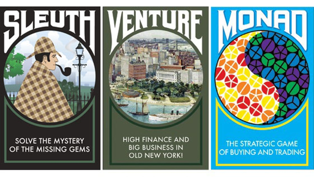 Sid Sackson Signature Series - Sleuth, Venture and Monad project video thumbnail