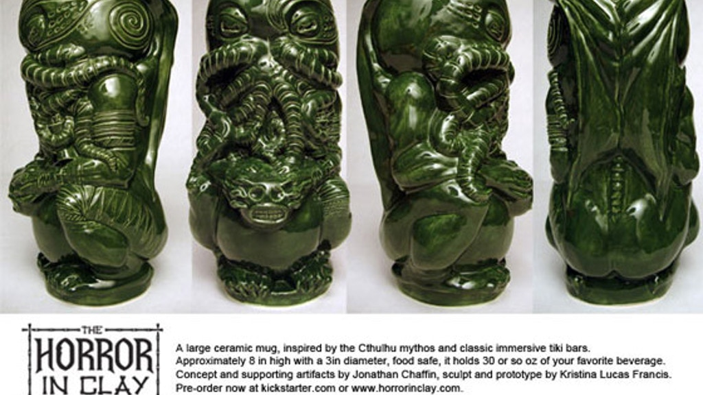 The Horror In Clay Cthulhu tiki mug production run project video thumbnail