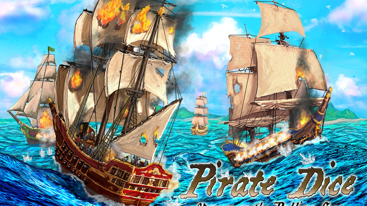 Pirate Dice is a game for 2 to 4 players that pits pirate vs. pirate in an epic race to capture and escape with the lost treasure.