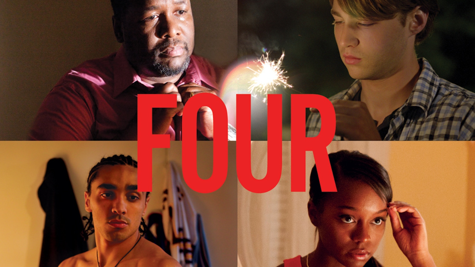 Four juxtaposes the relationships of two couples struggling with their demons and desires on the American night of independence.