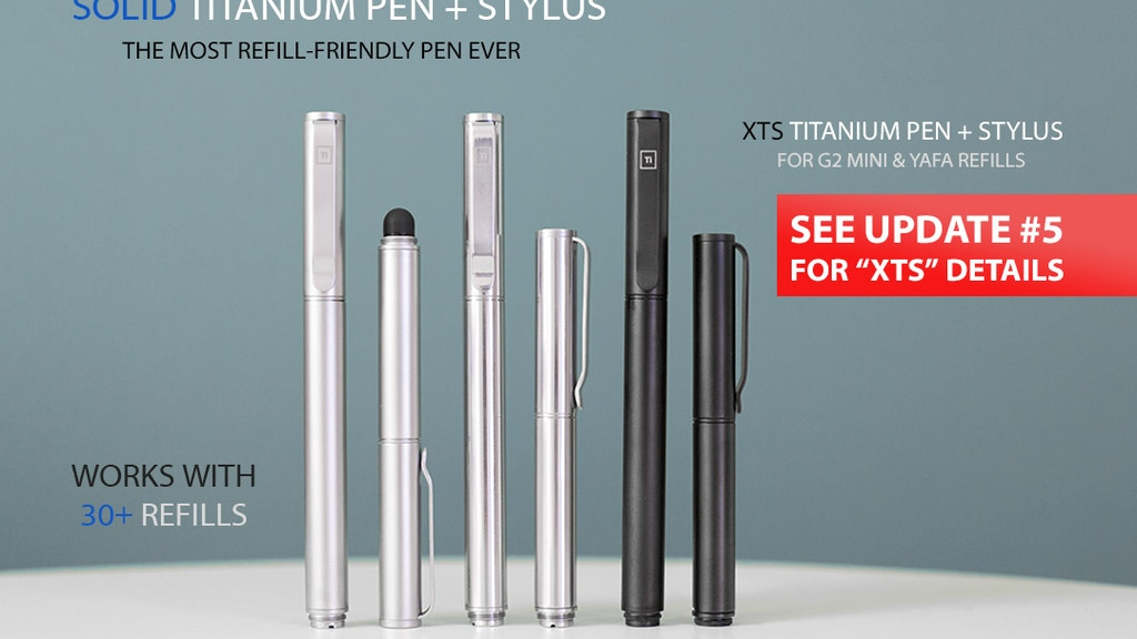 Solid Titanium Pen + Stylus project video thumbnail