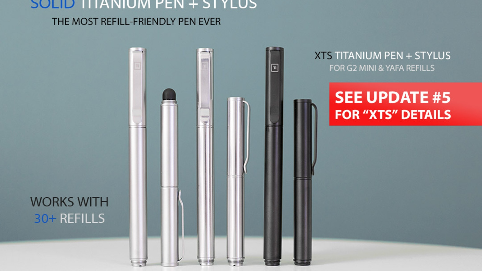World's First Titanium Pen that works with 30+ pens. Mont Blanc, Pilot G2, Cross, Uniball & more + Stylus + Free World-Wide Shipping