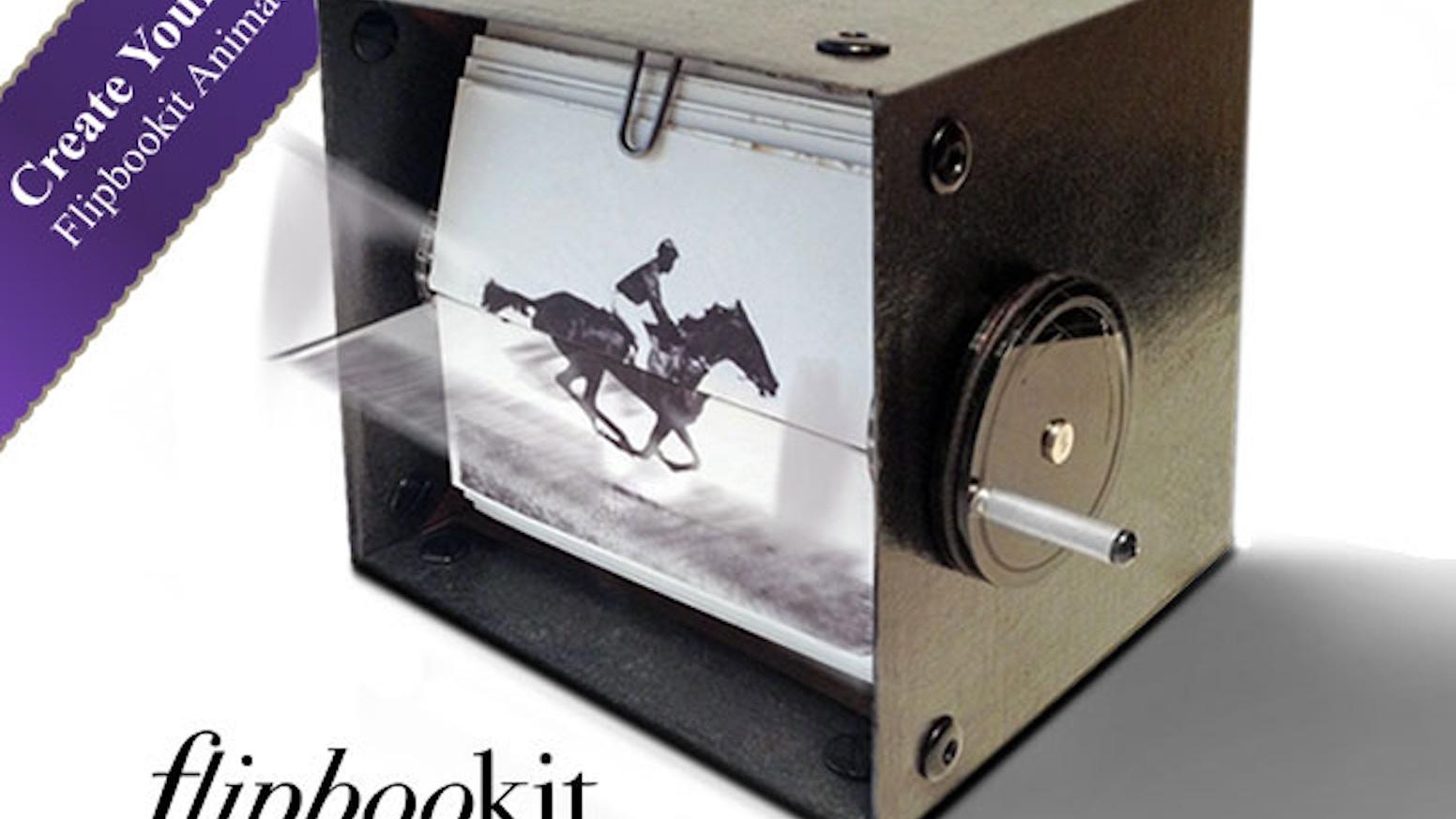 flipbookit mechanical flipbook art and kit by shinymind kickstarter