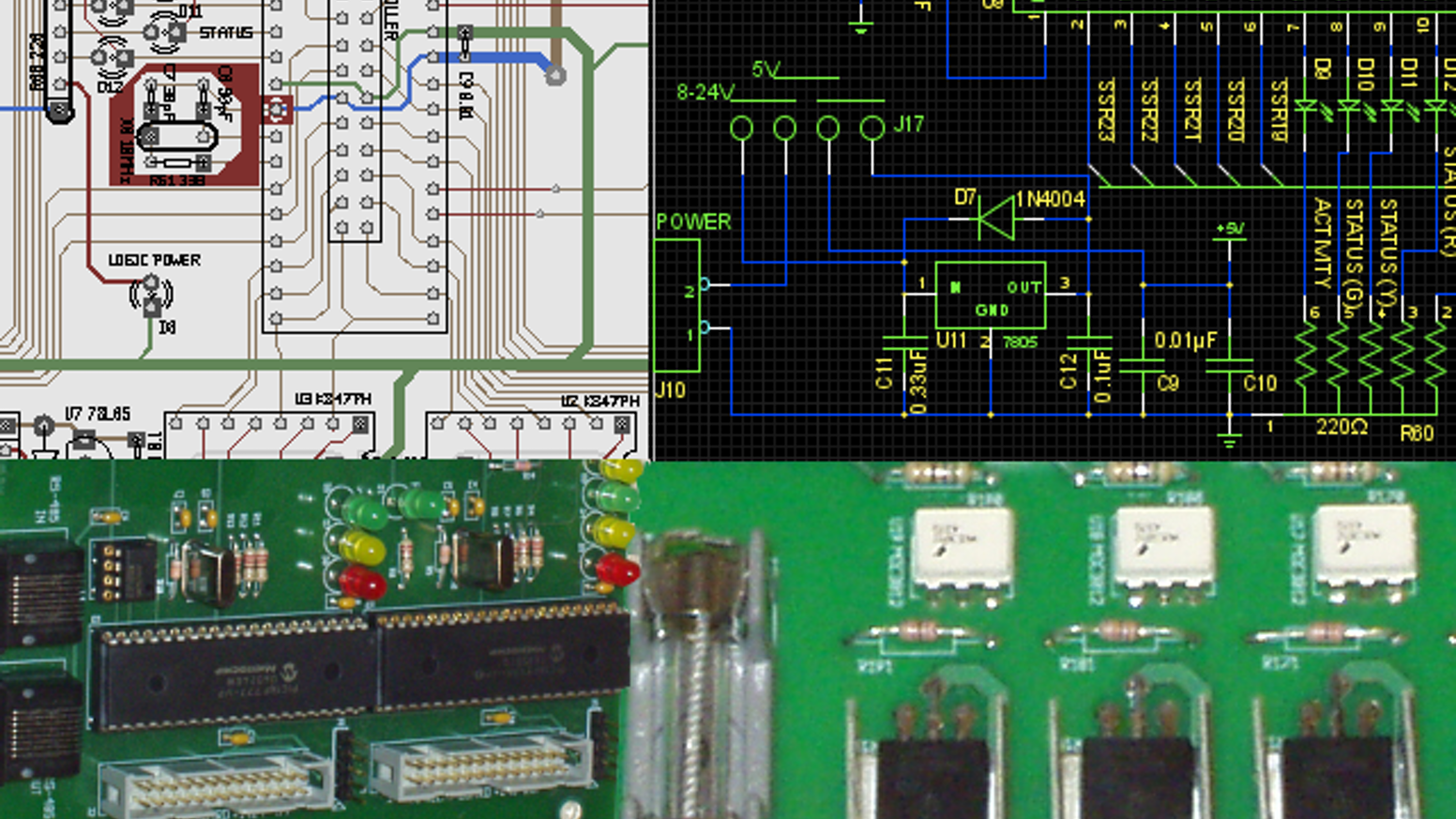 computer controlled relay board for 24 dc loads to control led christmas lights or whatever you can think of