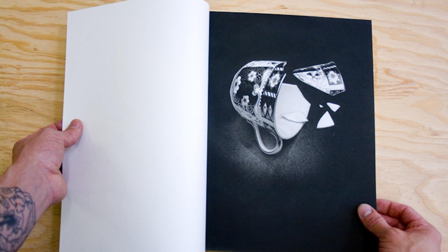 Book Cover Paper Weight ~ Still life an artist book by nickolaus typaldos —kickstarter