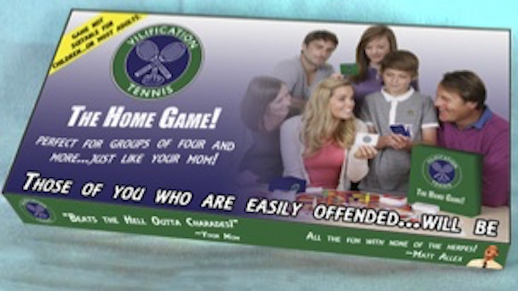 The Vilification Tennis Home Game project video thumbnail