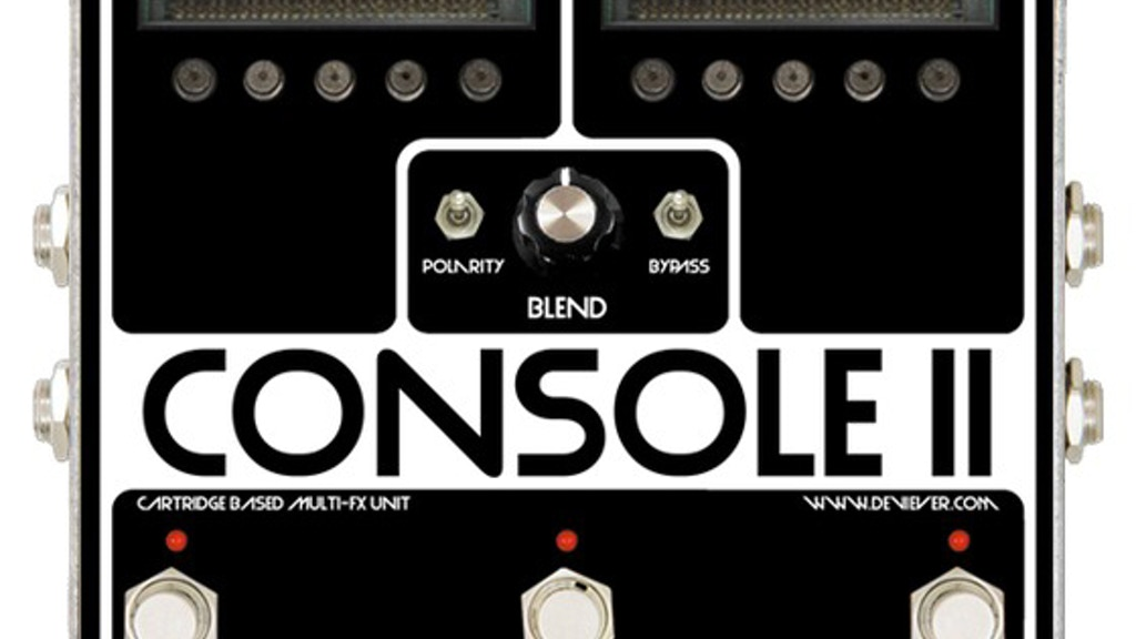 CONSOLE open source cartridge based fx platform for guitar project video thumbnail