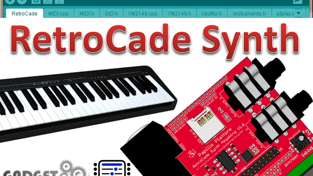 RetroCade Synth - One ChipTune board to rule them all! project video thumbnail