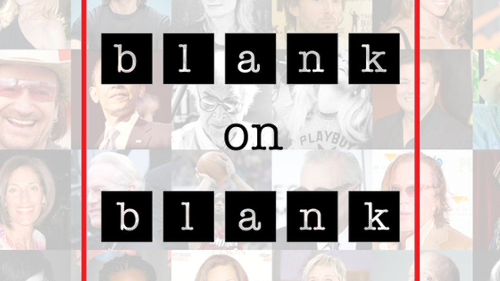 Blank on Blank: 30 Days, 30 Lost Interviews project video thumbnail