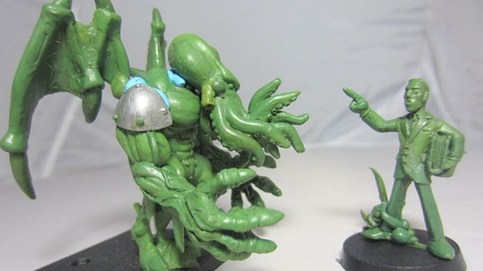 We need help turning these lovely sculpts into a pewter miniatures.  This line features many classic creatures from the Cthulhu Mythos.