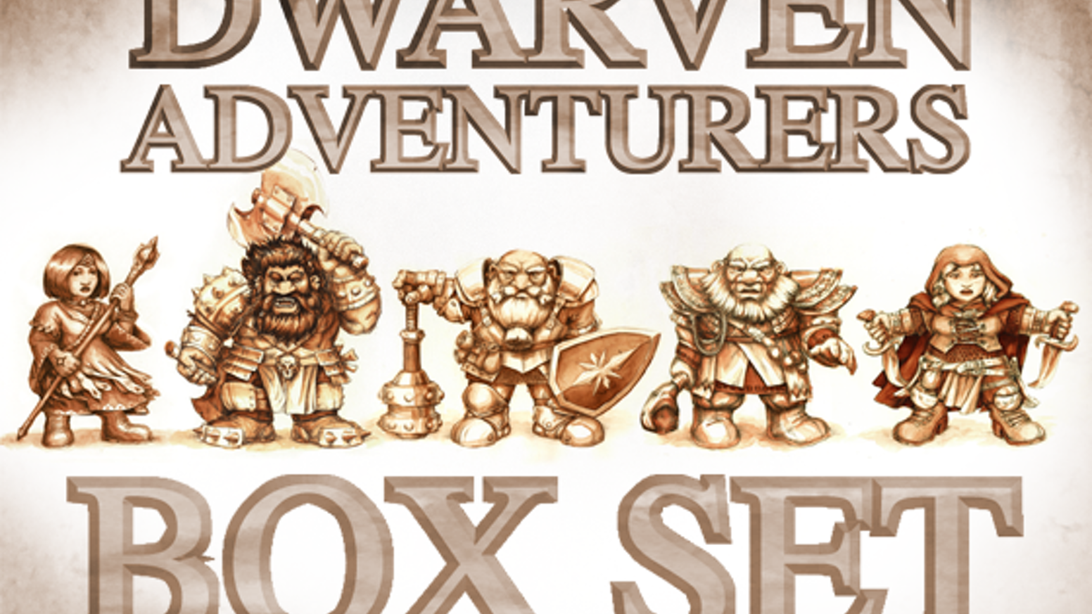 The Dwarven Adventurers Project will produce a set of dwarven hero miniatures for dungeon-crawling, RPGs and 28mm tabletop wargames.