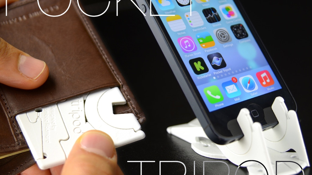 Pocket Tripod: 360° wallet-sized iPhone stand project video thumbnail