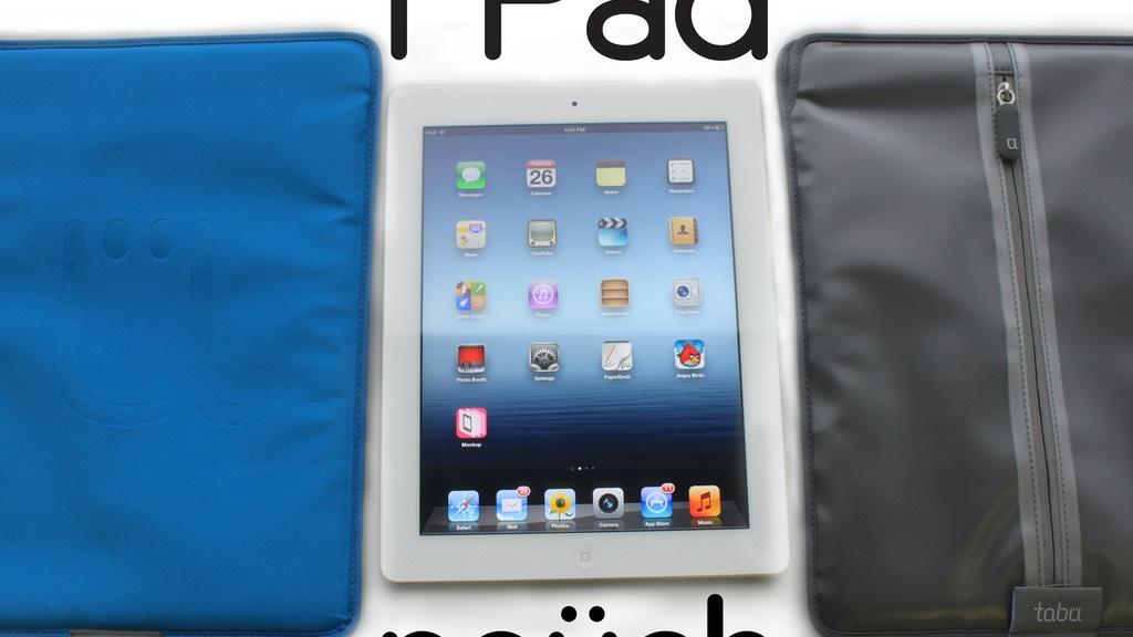 tabu tablets / iPad Pouch project video thumbnail