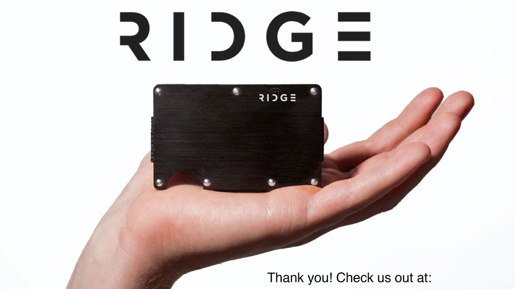 The Ridge: Front Pocket Wallet project video thumbnail