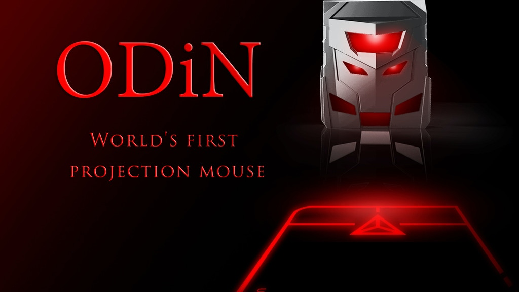 ODiN - World's first projection mouse project video thumbnail