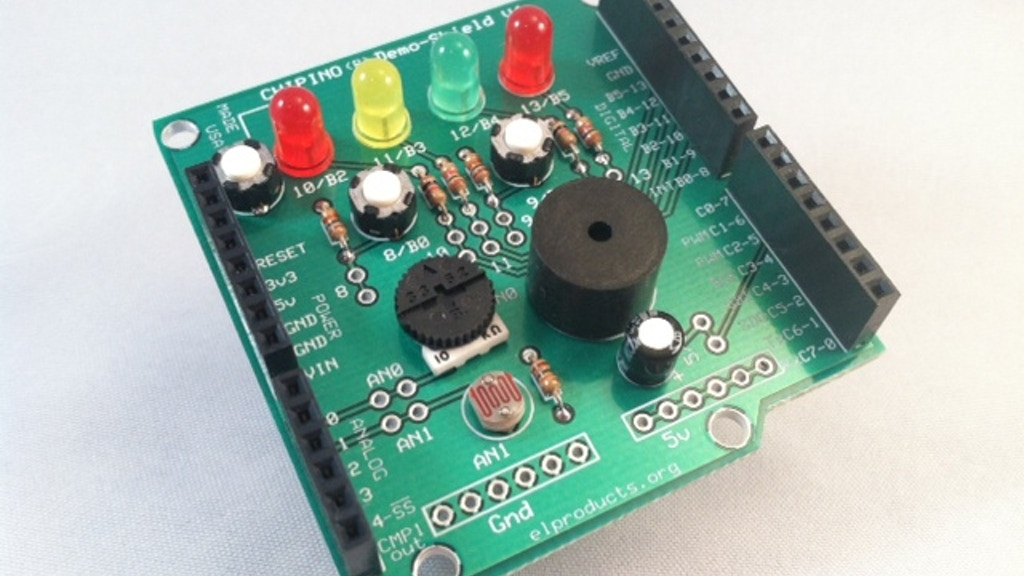 Demo-Shield for Arduino, chipKIT, CHIPINO project video thumbnail