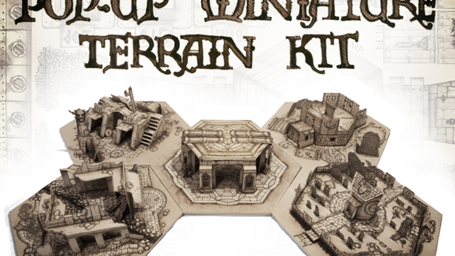 We're producing a kit so you can craft paper pop-up terrain for miniature tabletop wargaming and RPGs!