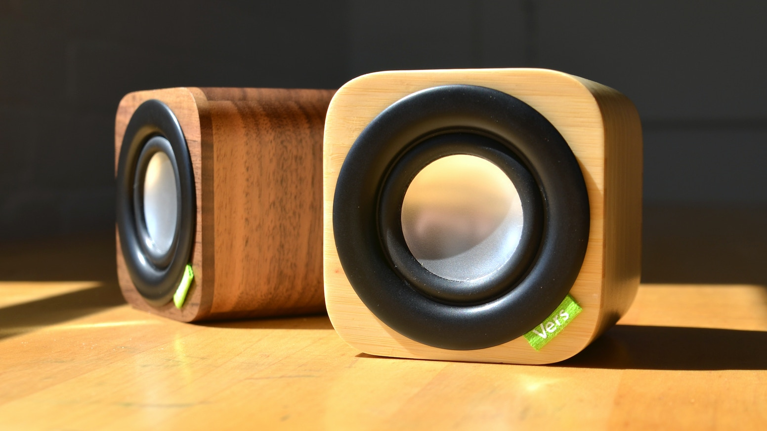 1Q is a compact, powerful Bluetooth sound system with a hand crafted, solid wood cabinet - perfect for iPhone and iPad